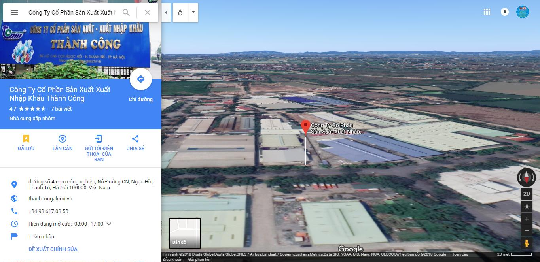 Google Map Doanh Nghiệp - Công Ty Cổ Phần Sản Xuất - Xuất Nhập Khẩu Thành Công