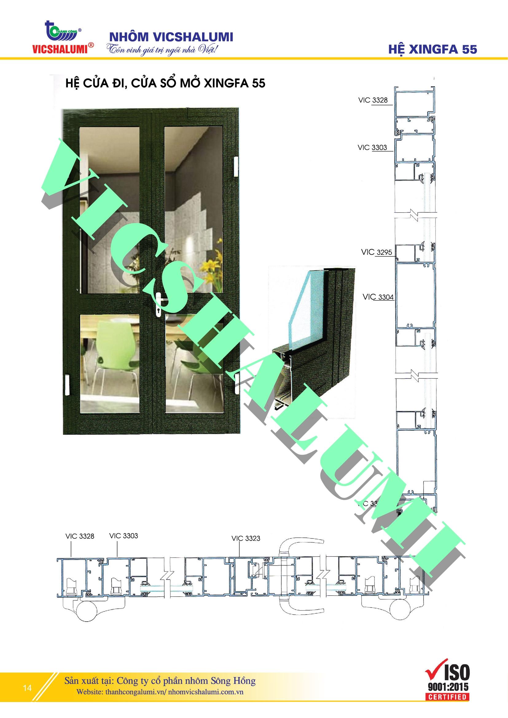 Hệ Cửa Đi, Cửa Sổ Mở XINGFA 55