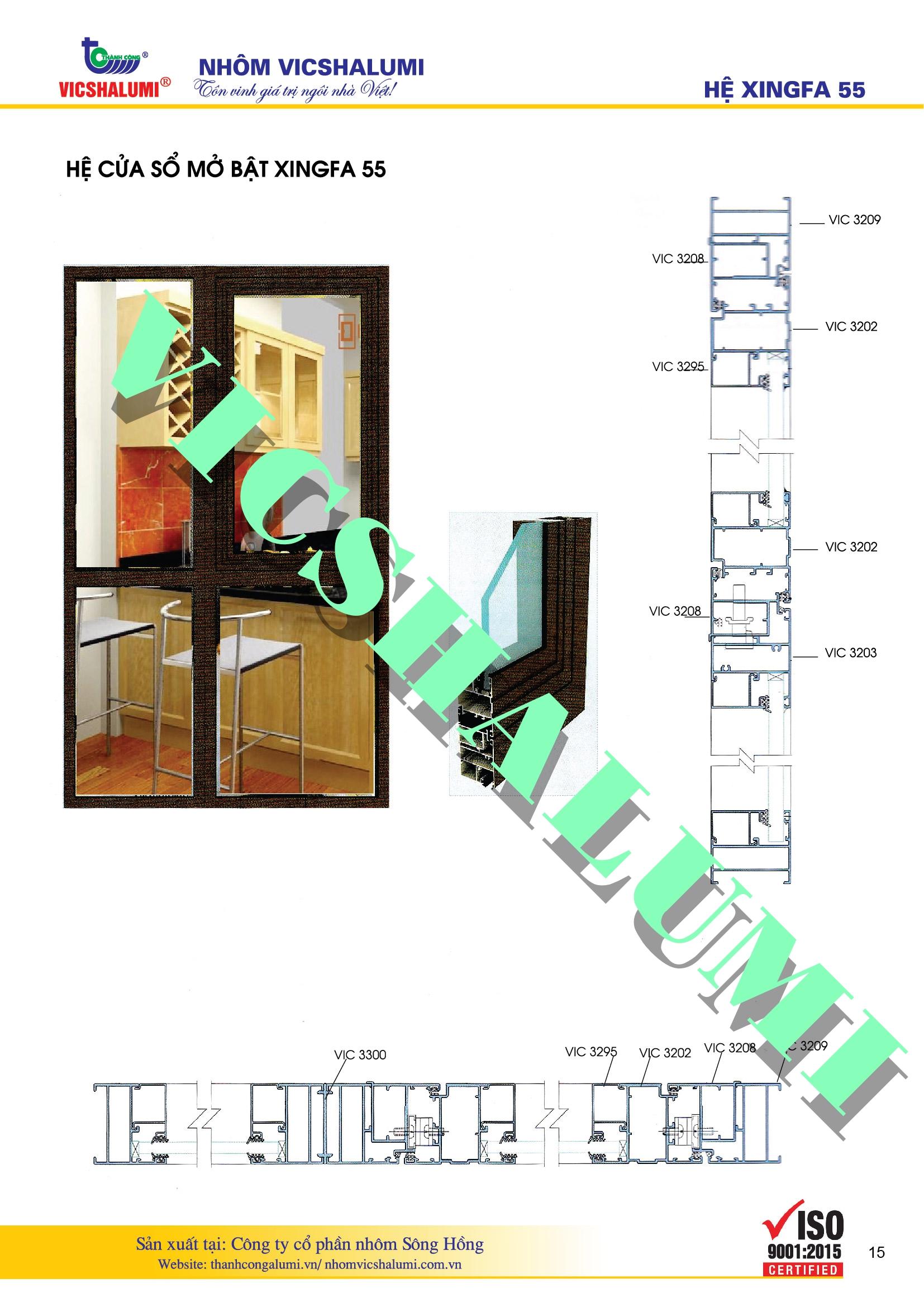Hệ Cửa Sổ Mở Bật XINGFA 55